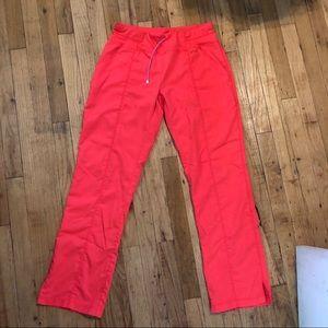 Coral Scrub Pants